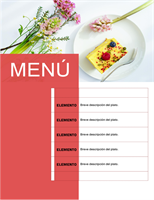 Menú de fiesta (diseño floral)