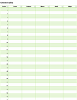 Calendario perpetuo para cualquier año (vertical)