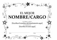 Diploma al mejor (blanco y negro)