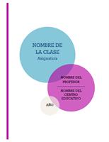 Kit de cuaderno escolar de notas (portada, lomo y fichas de división)