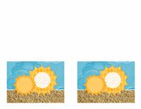 Invitación (diseño con sol y arena)