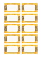 Tarjetas personales o de lugares (diseño de sol y arena, 10 por pág.)