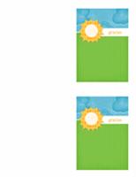 Tarjeta de agradecimiento (diseño de nubes)