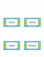 Tarjetas personales o de lugares (diseño de nubes y estilo plegable)
