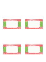 Tarjetas de lugares de fiestas (diseño floral y estilo plegable)