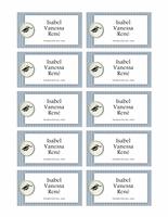 Tarjetas personales de graduación (diseño de texturas)