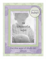 Álbum de fotos de bebé (diseño de flores)