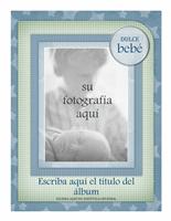 Álbum de fotos de bebé (diseño de estrellas)