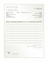 Nota de crédito Green Gradient design)