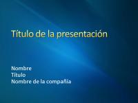 Diapositivas de presentación de muestra (diseño con cintas azules)