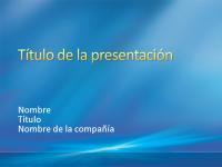 Diapositivas de presentación de muestra (diseño de rayos azules)