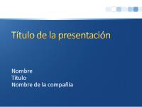 Diapositivas de presentación de muestra (azul con diseño de barra blanca)