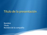 Diapositivas de presentación de muestra (azul con diseño de borde de nube blanco)