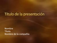 Diapositivas de presentación de muestra (diseño de curvas y metal pintado en oro)