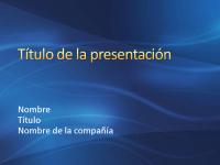 Diapositivas de presentación de muestra (diseño de silbido azul oscuro)