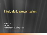 Diapositivas de presentación de muestra (diseño de bandas naranjas satinadas en gris)