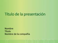 Diapositivas de presentación de muestra (verde con diseño de valla blanca)