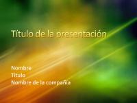 Diapositivas de presentación de muestra (diseño de textura verde y dorada)