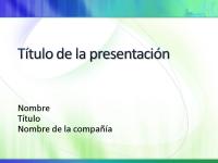 Diapositivas de presentación de muestra (blanco con diseño azul-verdoso)