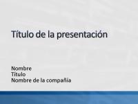 Diapositivas de presentación de muestra (blanco con diseño de barra azul)