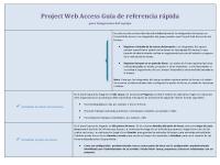 Guía de referencia rápida de Project Web Access para integrantes del grupo