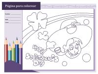 Hoja para colorear del Día de San Patricio (diseño de Leprechaun)