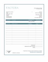 Factura de servicios (diseño con borde azul)