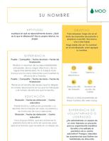 Currículum vítae impoluto diseñado por MOO