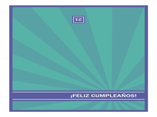 Tarjeta de cumpleaños de edades especiales (rayos azules)