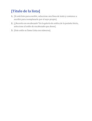 Lista básica