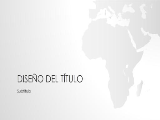 Serie de mapamundis, presentación de África (pantalla panorámica)