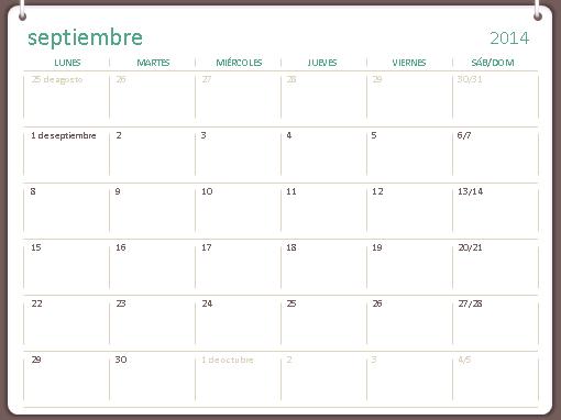 Calendario académico 2014-2015 (septiembre-agosto)
