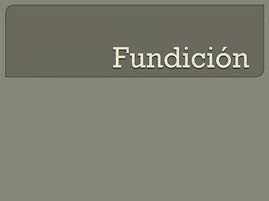 Fundición