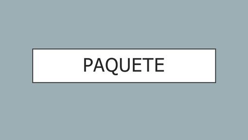 Paquete
