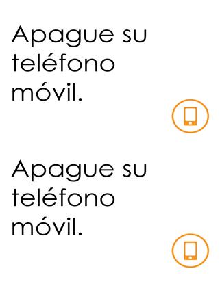 Recordatorio de apagar el teléfono móvil