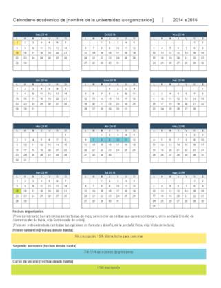 Calendario académico 2014