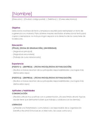 Currículum vítae (violeta)