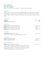 Currículum vítae de enfermero colegiado
