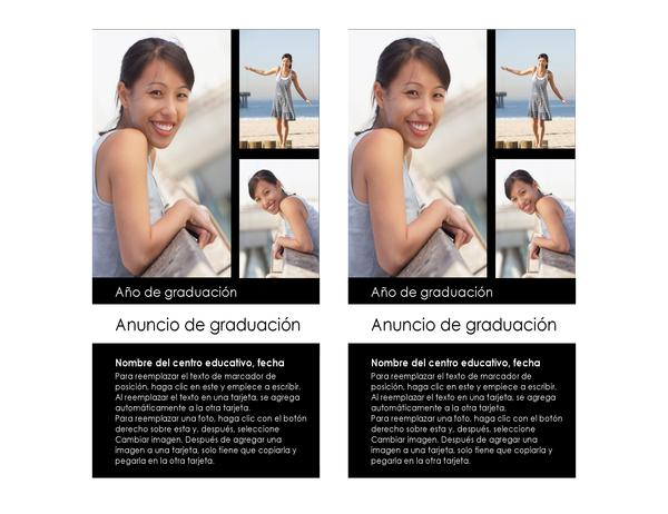 Anuncio de graduación