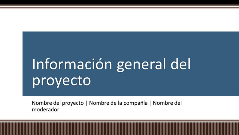 Presentación con información general sobre la planeación de proyectos empresariales