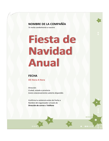Invitación a fiesta de Navidad de empresa