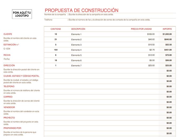 Propuesta de construcción