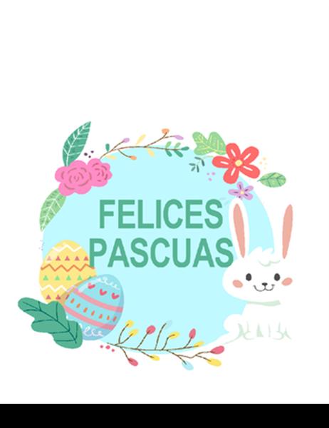 Tarjeta de Pascua (cuatro pliegues)