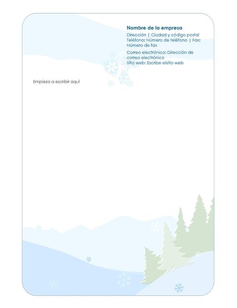 Membrete de diseño de fondo de invierno
