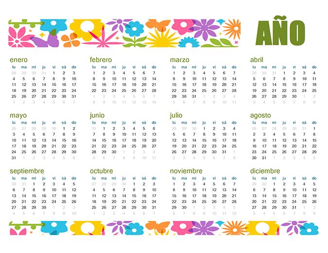 Calendario divertido para cualquier año