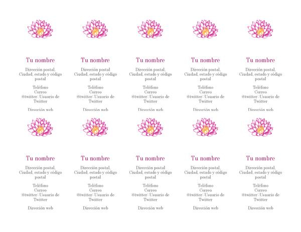 Tarjetas de presentación personales floreadas (vertical)