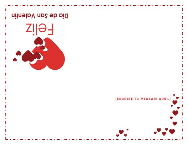 Tarjeta para el Día de San Valentín (se dobla en cuatro partes)