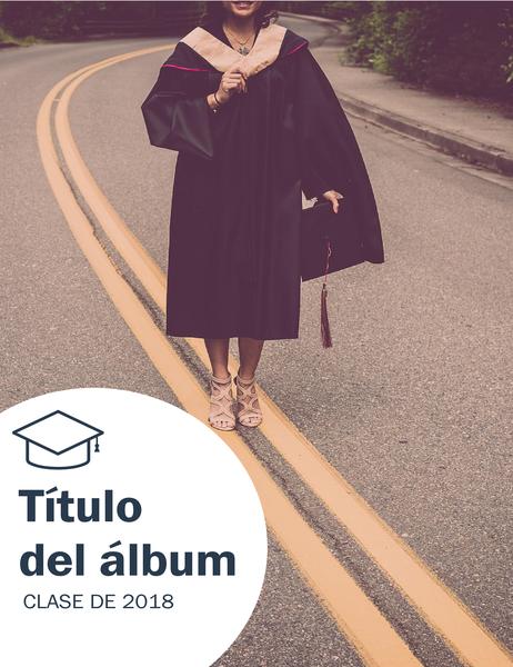 Álbum de fotografías de graduación (diseño de texturas)