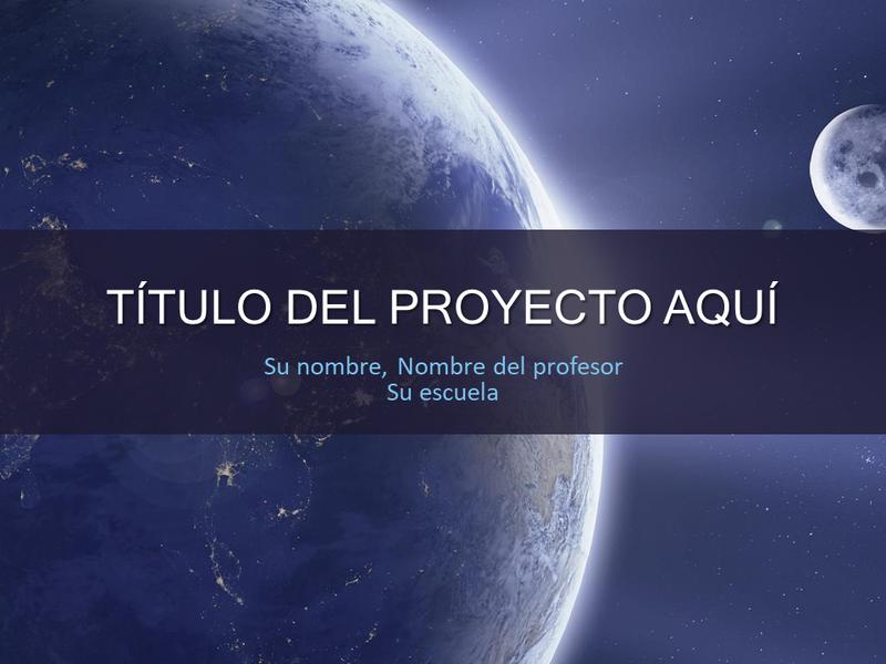 Proyecto escolar del sistema solar