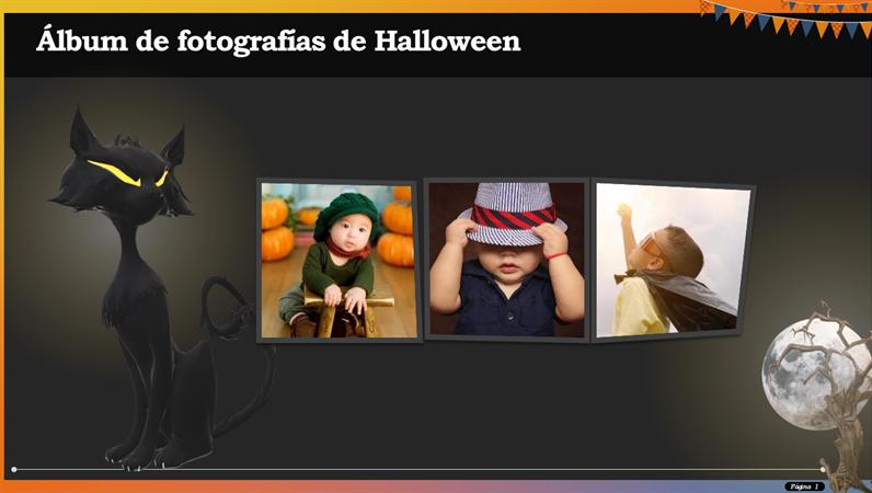 Álbum de fotografías de Halloween